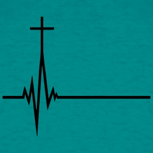 Pulse frequency life pulse beat heart beat jesus c T-Shirts - Men's T-Shirt
