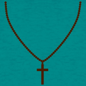 Rosary, necklace, cross, life, faith, christ, cool T-Shirts - Men's T-Shirt