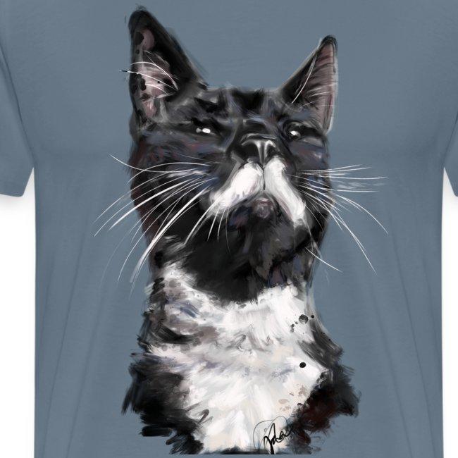 Stalin the Cat Watercolour Men's Tee
