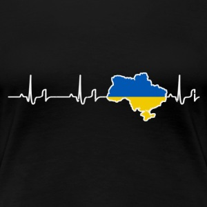 Heartbeat - Ukraine Shirt Damen - Frauen Premium T-Shirt