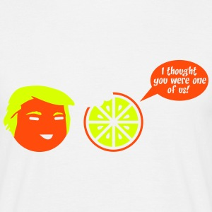 Trump I thought you were one of us Orange Cartoon T-Shirts - Männer T-Shirt
