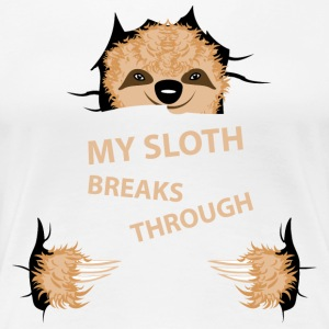 my sloth breaks trouth T-skjorter - Premium T-skjorte for kvinner