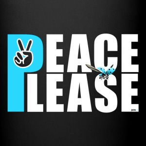 Please Peace_ - Tasse einfarbig