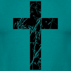Crosses scratches old text jesus christ cool logo  T-Shirts - Men's T-Shirt