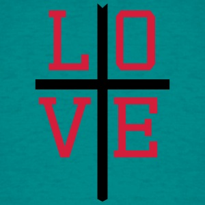 Love, hope, faith, symbol, team, crew, friends, je T-Shirts - Men's T-Shirt