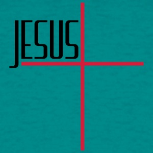 Cross logo design cool text lettering jesus christ T-Shirts - Men's T-Shirt