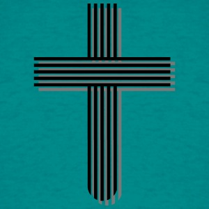 Cross jesus lines line design pattern cool logo ch T-Shirts - Men's T-Shirt