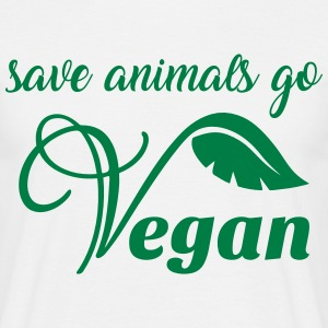 Save animals go vegan - Männer T-Shirt