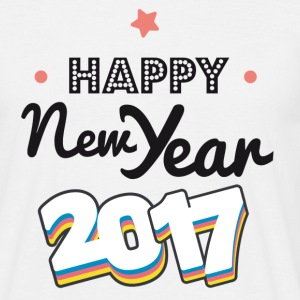 happy new year  2017 coul - T-skjorte for menn