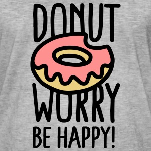 Donut worry, be happy! T-shirts - Vintage-T-shirt herr