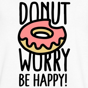 Donut worry, be happy! T-shirts - Herre T-shirt med V-udskæring
