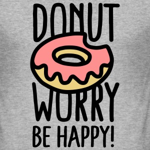 Donut worry, be happy! T-skjorter - Slim Fit T-skjorte for menn