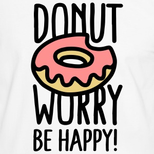 Donut worry, be happy! T-Shirts - Männer Kontrast-T-Shirt