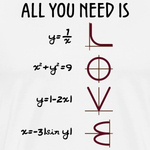 All you need is Love (Equations) - Männer Premium T-Shirt