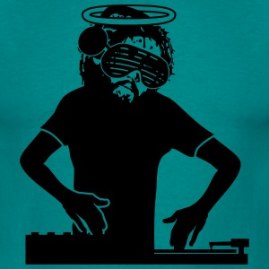 Jesus death dj party glasses headphones music danc T-Shirts - Men's T-Shirt