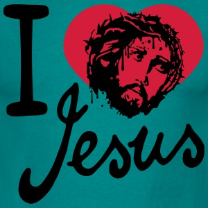 I love love heart died sins jesus king of kings sp T-Shirts - Men's T-Shirt