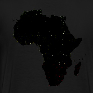 Africa Black on Black with Cities - Men's Premium T-Shirt