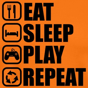 EAT SLEEP PLAY GEEK GAMER GAMING - Männer Premium T-Shirt
