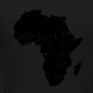 Black Africa Labels Cities T-Shirts - Men's Premium T-Shirt