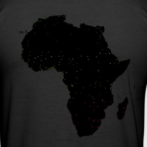 Black Africa Labels Cities T-Shirts - Men's Slim Fit T-Shirt