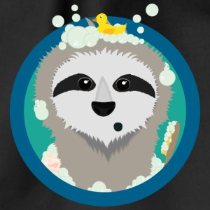 Bathing sloth with soap bubbles Bags & Backpacks - Drawstring Bag
