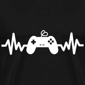 Gaming is life - geek gamer nerd game Sprüche - Männer Premium T-Shirt