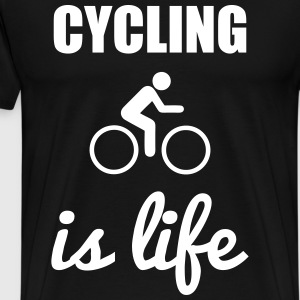 cycling is life  - Mannen Premium T-shirt