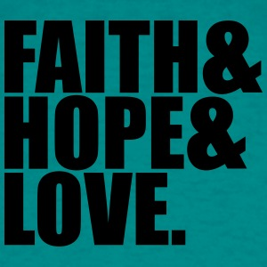 Faith hope love love hope symbol team crew friends T-Shirts - Men's T-Shirt