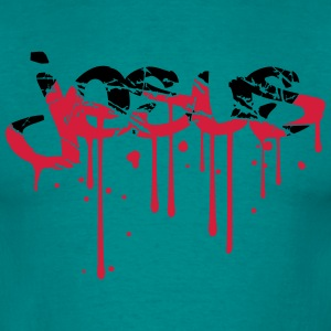blod scratch tårer graffiti drop tatovering bogsta T-shirts - Herre-T-shirt