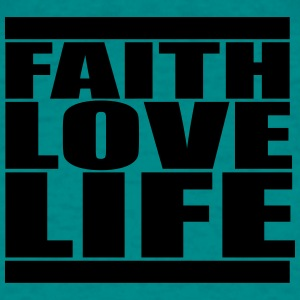 Bar jesus cool faith love life live love love text T-Shirts - Men's T-Shirt
