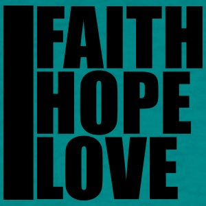 Faith, love, hope, faith, symbol, team, crew, frie T-Shirts - Men's T-Shirt