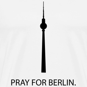 Pray for Berlin T-shirts - Herre premium T-shirt