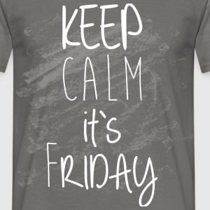 Keep calm it's Friday  - Men's T-Shirt