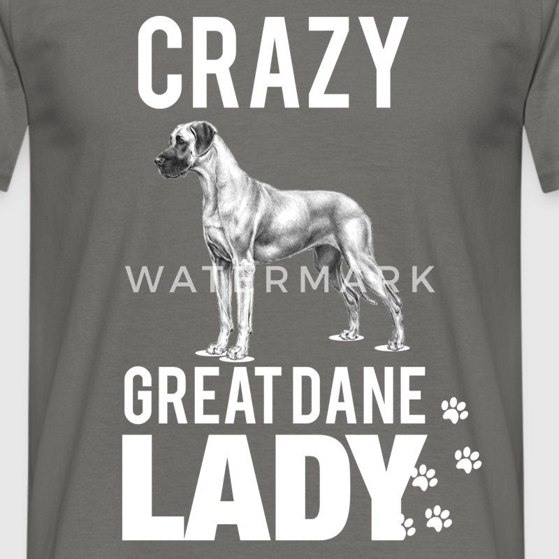 Crazy great Dane lady - Men's T-Shirt