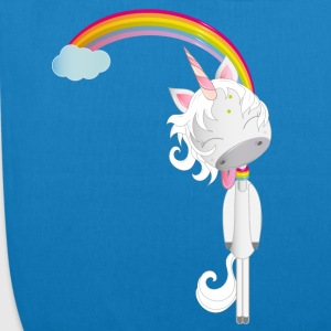 Unicorn hangs on the rainbow Bags & Backpacks - EarthPositive Tote Bag