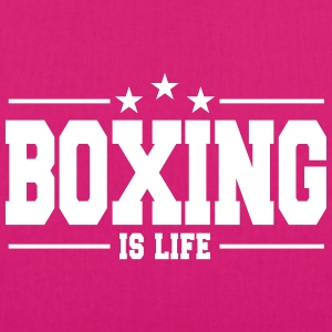 boxing is life 1 Bags & Backpacks - EarthPositive Tote Bag