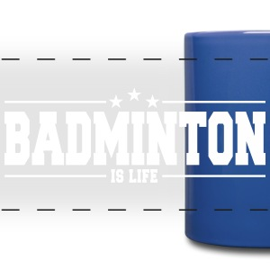 badminton is life 1 Tazze & Accessori - Tazza colorata con vista