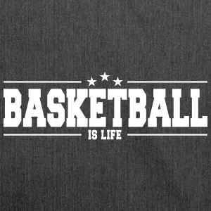 basketball is life 1 Bags & Backpacks - Shoulder Bag made from recycled material