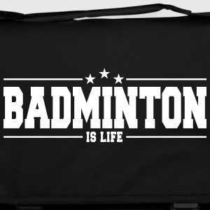 badminton is life 1 Bags & Backpacks - Shoulder Bag