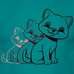 Cat Baby sød design T-shirts - Herre-T-shirt