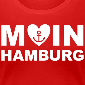 MOIN sagt man in HAMBURG Anker Frauen T-Shirt - Frauen Premium T-Shirt