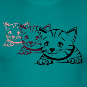 Cat Baby nuttet design T-shirts - Herre-T-shirt