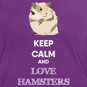 KEEP CALM AND HAMSTER T-Shirts - Frauen Kontrast-T-Shirt