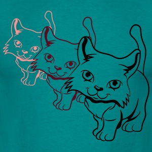 Cat Baby frække design T-shirts - Herre-T-shirt