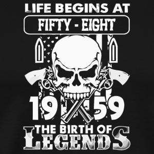 1959 The birth of Legends shirt - Men's Premium T-Shirt