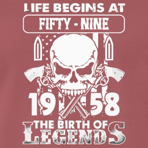 1958 The birth of Legends shirt - Men's Premium T-Shirt