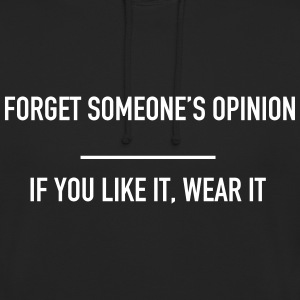 Forget someone's opinion  Bluzy - Bluza z kapturem typu unisex