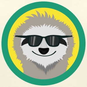 Cool sloth with sunglasses T-Shirts - Women's V-Neck T-Shirt