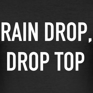 Rain Drop Drop Top T-shirts - Slim Fit T-shirt herr