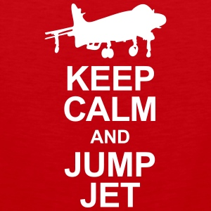 Keep Calm and Jump Jet Sports wear - Men's Premium Tank Top